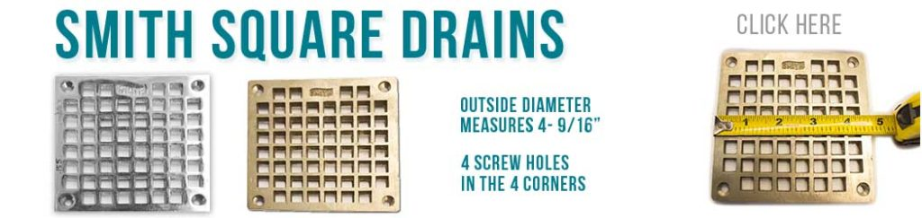 Designer Square shower Drains